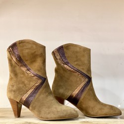 BOTTINES ROXANNE CAMEL