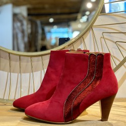 BOTTINES LOLA ROUGE